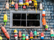 Lobster Buoys Royalty Free Stock Photos