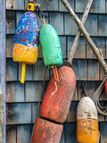 Lobster Buoys Royalty Free Stock Images