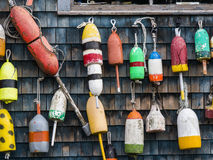Lobster Buoys Royalty Free Stock Photography
