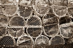 Lobster cages Royalty Free Stock Images