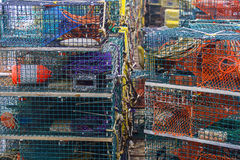 Lobster cages Royalty Free Stock Photos