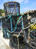 Lobster Cages. At Port Issac U.K Stock Images
