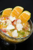 Lobster ceviche  cocktail appetizer nicaragua Royalty Free Stock Photo