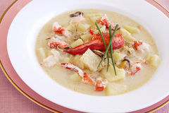 Lobster chowder Stock Image