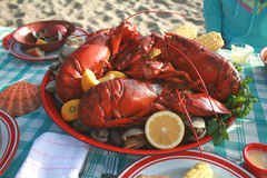 Lobster and Clambake Royalty Free Stock Photography