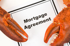 Lobster Claw and Mortgage Agreement Stock Image