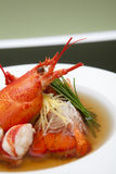 Lobster Consomme. On Green Background Stock Images