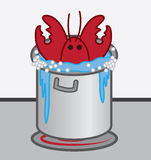 Lobster Cooking Pot Royalty Free Stock Photos