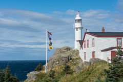 Lobster Cove Head Lighthouse in Gros Morne National Park, Newfou Royalty Free Stock Image