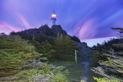 Lobster Cove Head Lighthouse, Newfoundland. Lobster Cove Head Lighthouse. Newfoundland and Labrador, Canada stock image