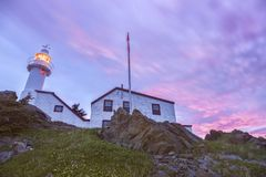 Lobster Cove Head Lighthouse, Newfoundland Stock Photos
