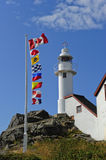 Lobster Cove Lighthouse, Newfoundland Stock Photography