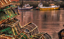 Lobster and Crab Fishing pots Stock Photo