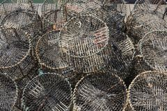 Lobster or crab pots. Brighton Marina. England Royalty Free Stock Photography
