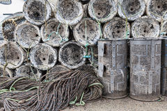 Lobster and crab pots Stock Image