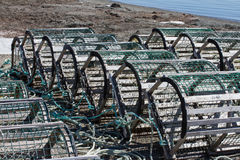 Lobster/Crab Traps on Beach Royalty Free Stock Photo