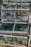 Lobster/Crab Traps in Ice Stock Images