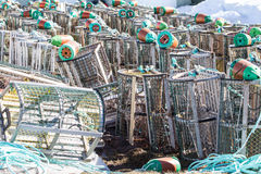 Lobster/Crab Traps in Ice Royalty Free Stock Images