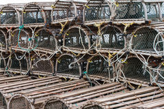 Lobster or Crab Traps on trailer. Royalty Free Stock Photography