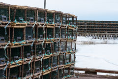 Lobster or Crab Traps on trailer. Royalty Free Stock Photos