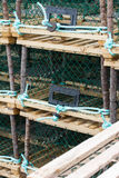Lobster or Crab Traps on trailer. Stock Photos