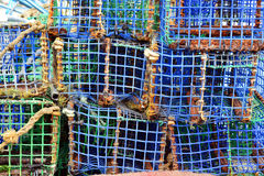 Lobster and crabs fishermen traps Royalty Free Stock Photo