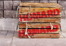 Lobster crates Royalty Free Stock Image