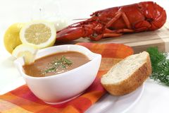Lobster cream soup Royalty Free Stock Photography
