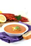 Lobster cream soup Stock Image