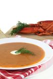 Lobster cream soup Royalty Free Stock Image