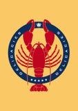 Lobster delicacies logo Royalty Free Stock Photo