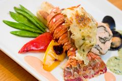 Lobster Dinner Stock Photography