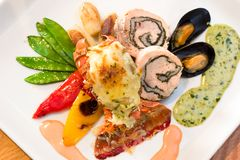 Lobster Dinner stock photos