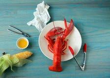 Lobster dinner green close Stock Photos