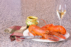 Lobster dinner Royalty Free Stock Photos