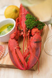 Lobster dinner with wine Stock Photo