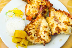 Lobster Dish or Plate Served in a Cuban Restaurant Royalty Free Stock Images