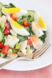 Lobster and egg salad Stock Images
