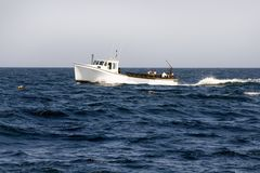 Lobster Fishing Boat Stock Photography