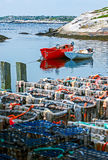 Lobster fishing boats Stock Images