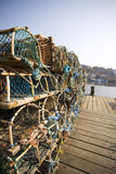 Lobster Fishing at the dock at Whitby Royalty Free Stock Photography