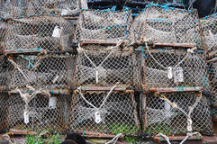 Lobster fishing pots Stock Image