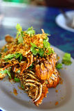 Lobster with Garlic. Thailand food Royalty Free Stock Photography