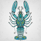 Lobster. Hand drawn isolated illustration. Stock Photo
