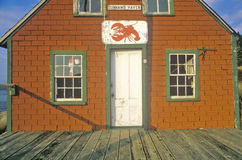 Lobster house on edge of Penobscot Bay in Stonington ME in Autumn Stock Photography