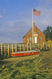 Lobster house on edge of Penobscot Bay in Stonington ME in Autumn Royalty Free Stock Photos