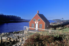 Lobster house on edge of Penobscot Bay in Stonington ME in Autumn Royalty Free Stock Images