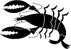 Lobster Icon Stock Image