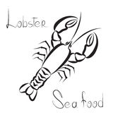 Lobster icon. Sea food menu label. Fish restraunt cover backgrou. Nd Royalty Free Stock Images