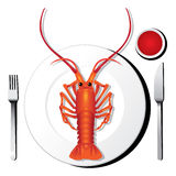 Lobster illustration vector Royalty Free Stock Photos